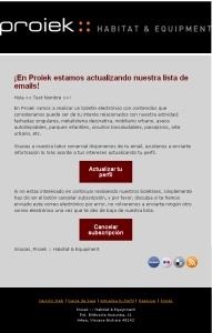 Proiek email marketing